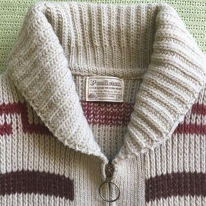 Pendleton zip up sweater